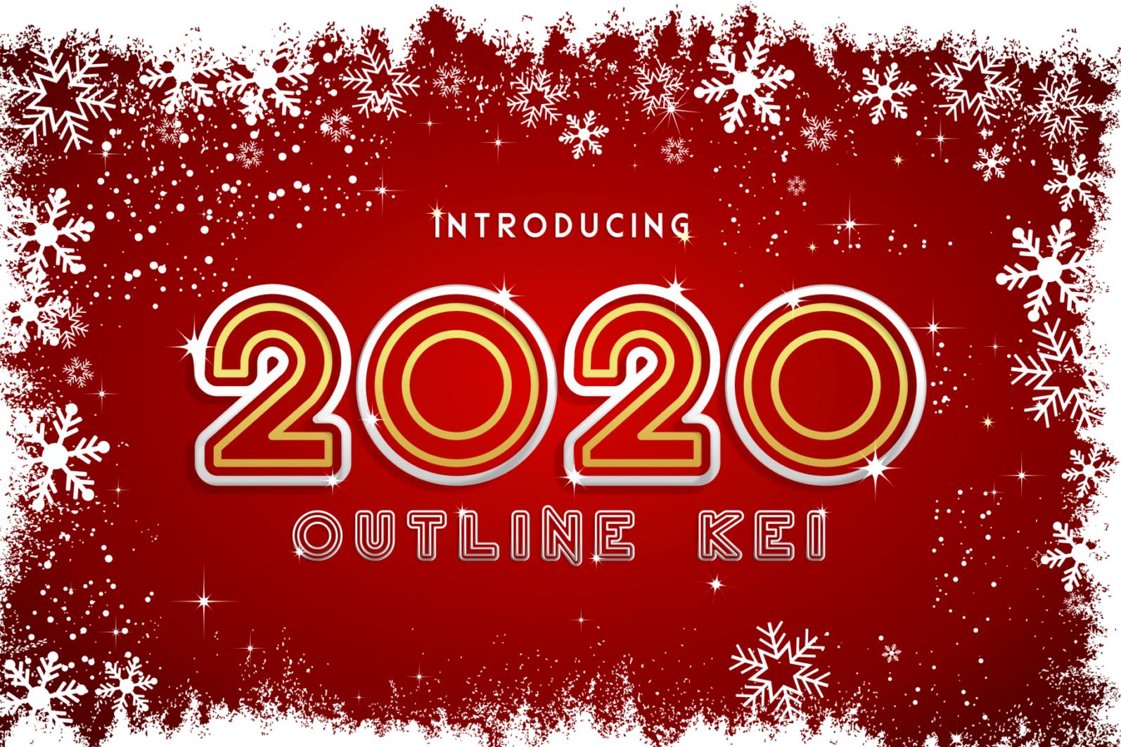 Creative Font Bundle - Preview 2020 Outline Kei 1 -