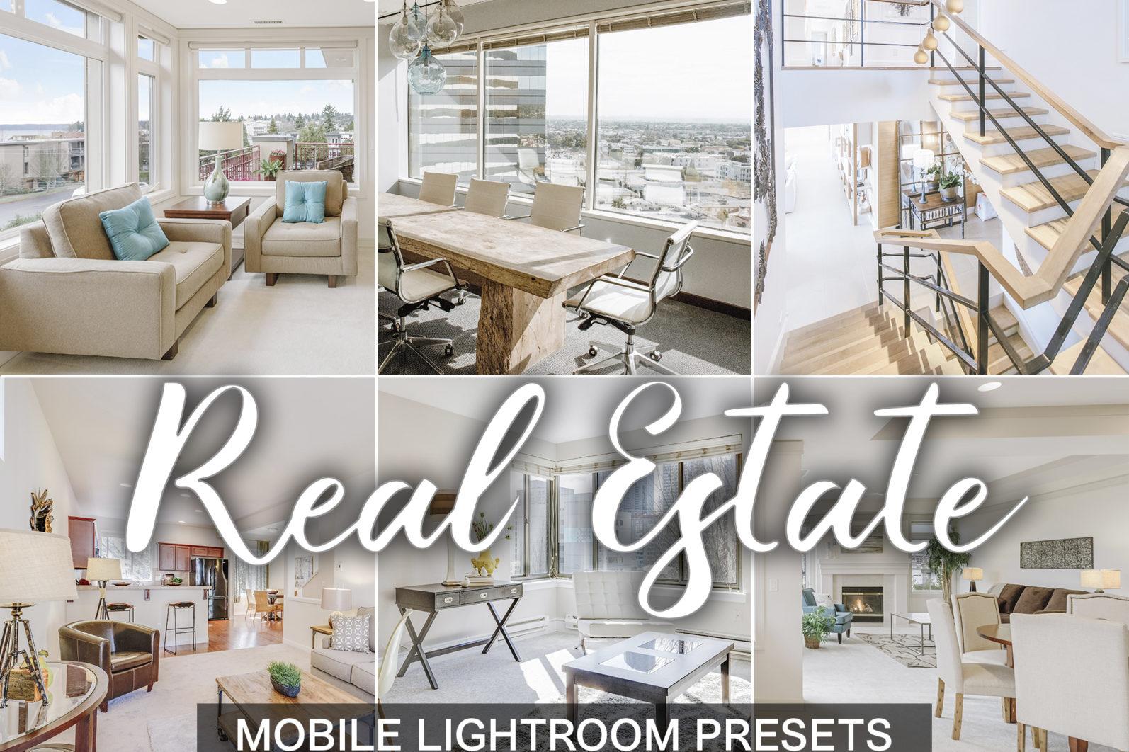 15 Mobile Lightroom Presets REAL ESTATE - Real Estate presets cover product -