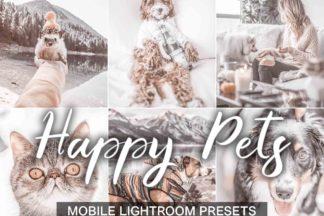 $1 Lightroom Preset Deals - Happy Pets presets cover product -