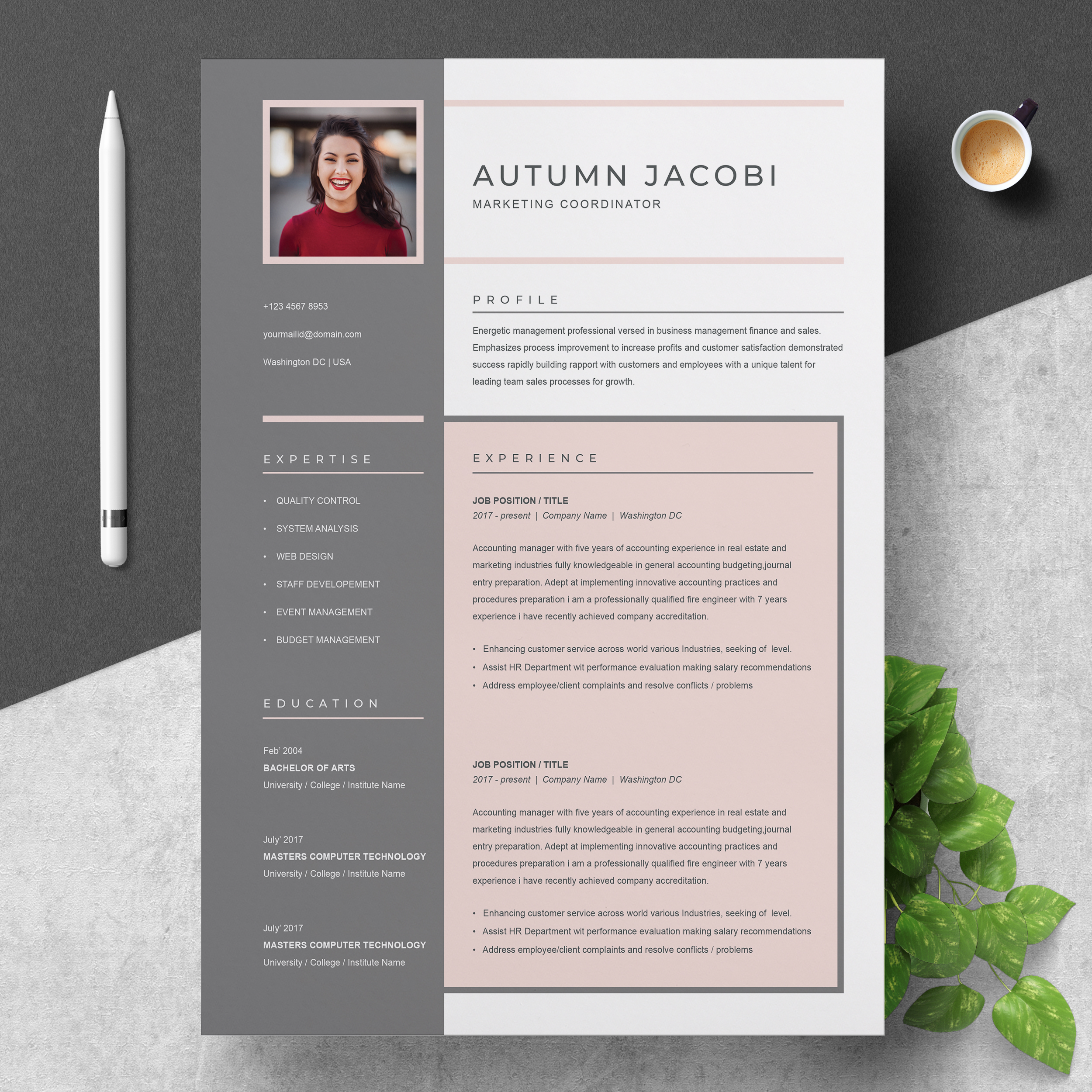 Resume Template 3 Page   CV Template + Cover Letter ...