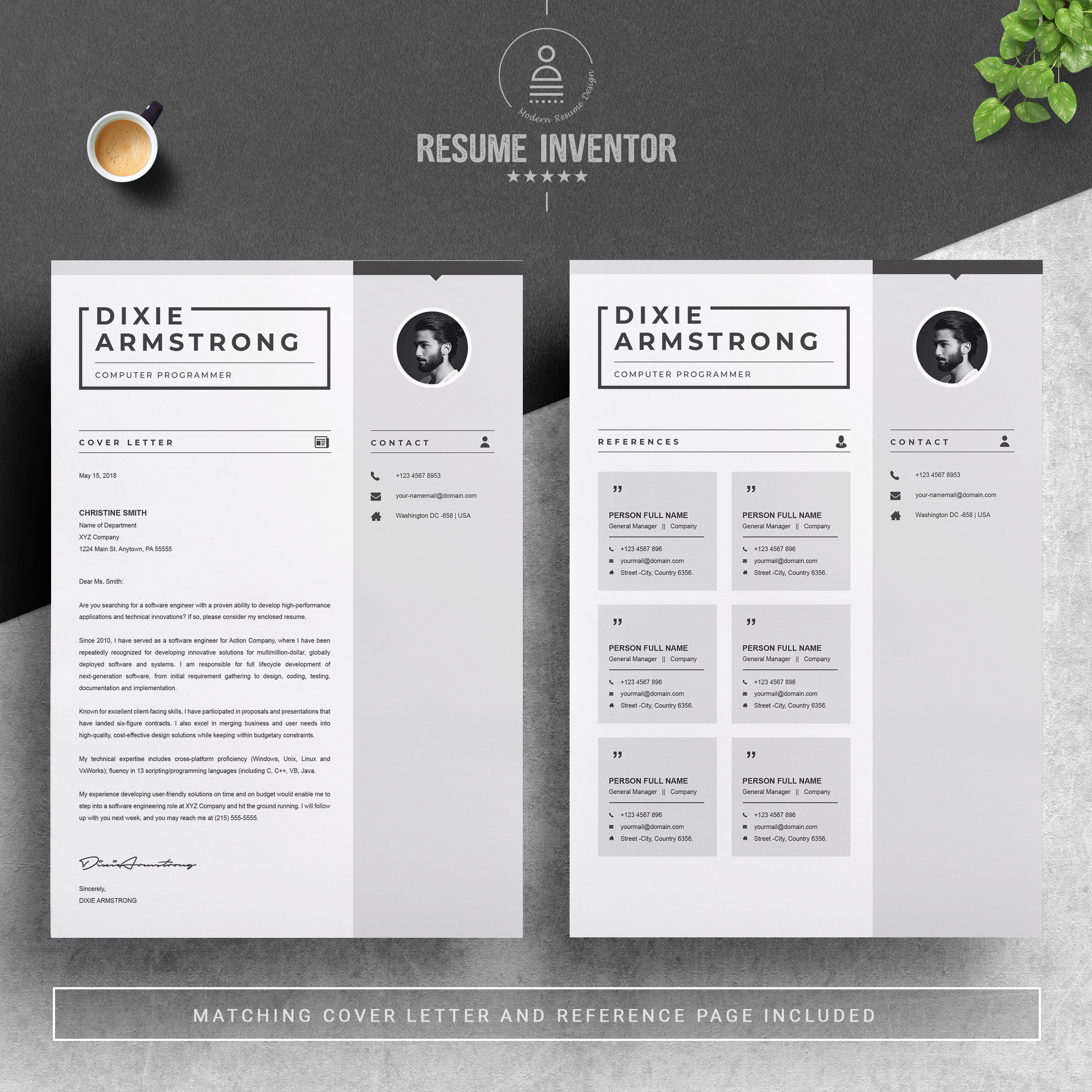 Stationery Poster Template Curriculum Vitae: Clean Resume Template