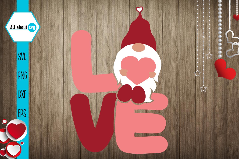Love Gnome Svg Valentines Gnome Svg Crella