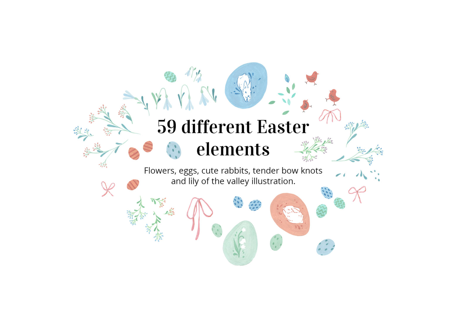 MAGICAL EASTER TRADITION - different easter elements -