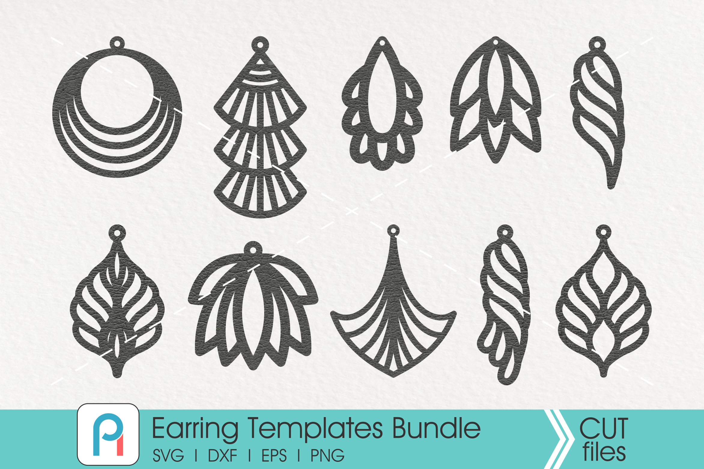 Download Earrings Template Svg, Faux Leather Earrings Svg - Crella