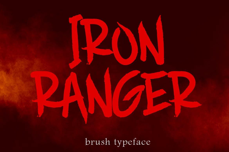 Brush Font Bundle - 45 Fonts - COVER IRON RANGER -