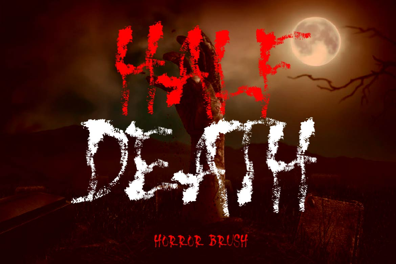 Brush Font Bundle - 45 Fonts - HALF DEATH COVER -