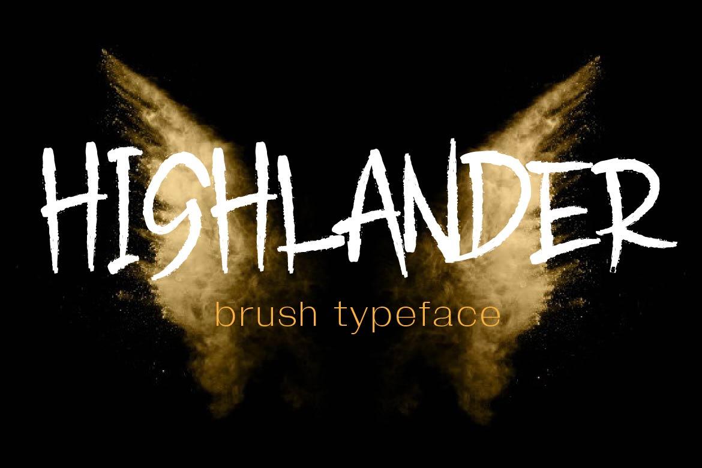 Brush Font Bundle - 45 Fonts - HIGHLANDER COVER -