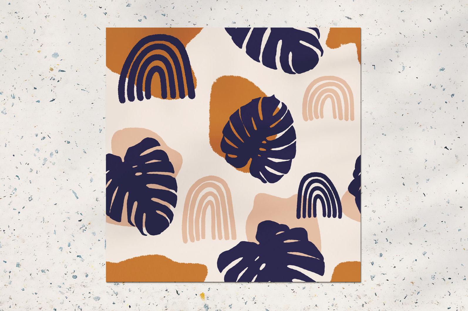 Palm leaves seamless pattern - CREATIVE MARKET2 5 -
