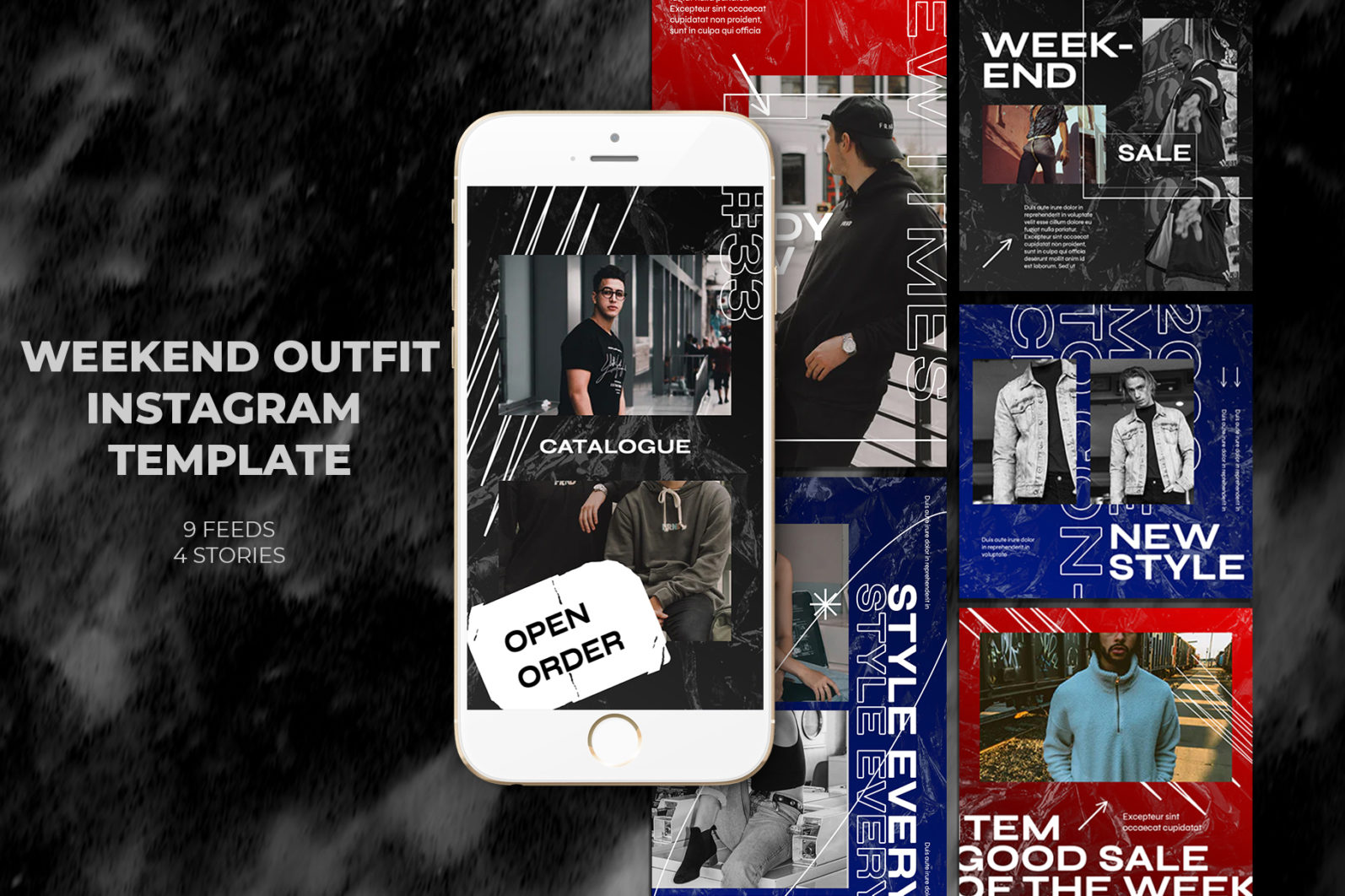Weekend Outfit Instagram Templates - 9 feed 4 story1 7 -