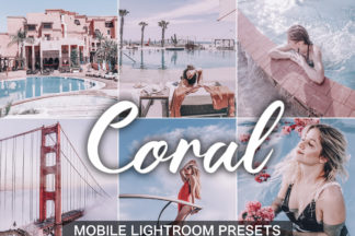 $1 Lightroom Preset Deals - Coral presets cover product -