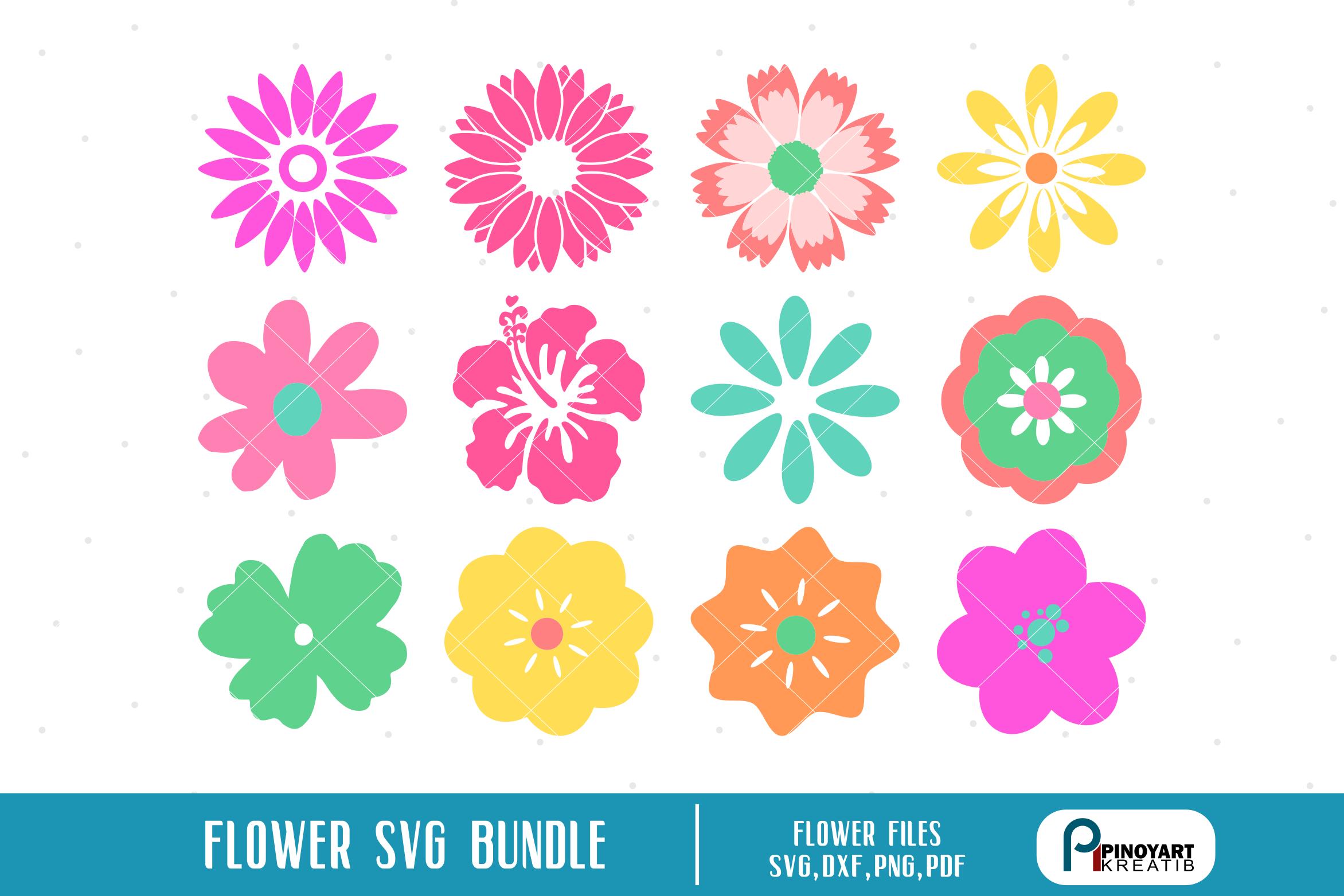 Flower Svg Flower Svg File Flower Dxf Flower Cut File Crella