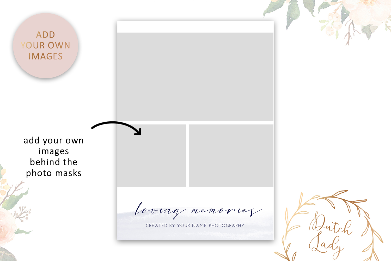 PSD Wedding Photo Session Card - Adobe Photoshop Template #9 - photo card design vertical 1 -