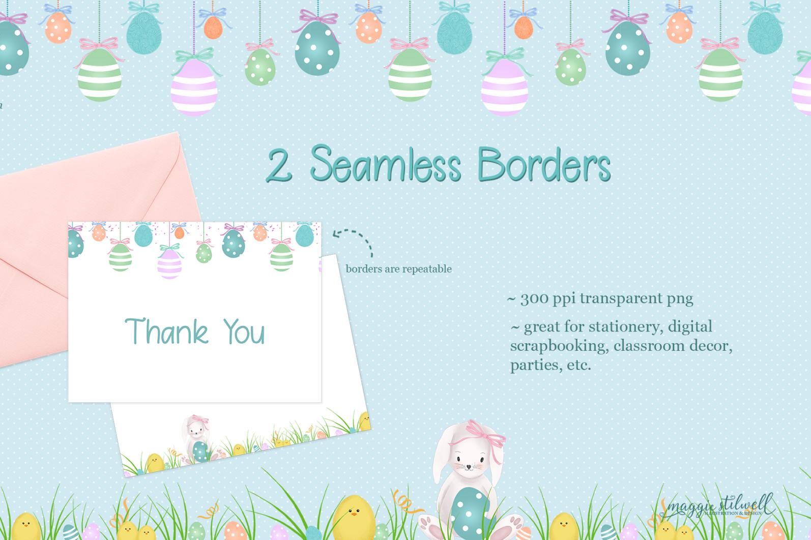 """Easter Fun"" Design Set - easter border page -"