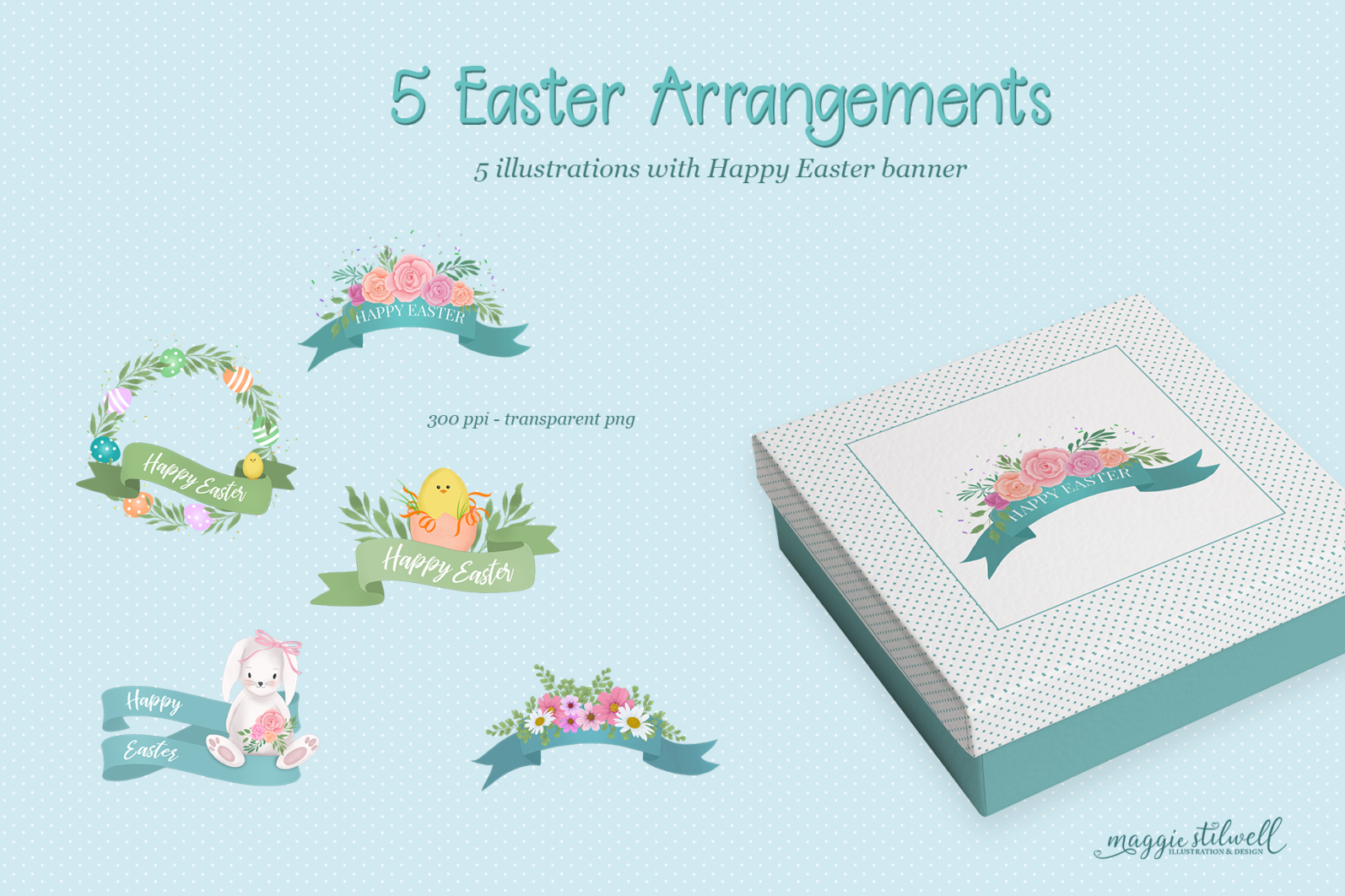 """""""Easter Fun"""" Design Set - easter banners page -"""