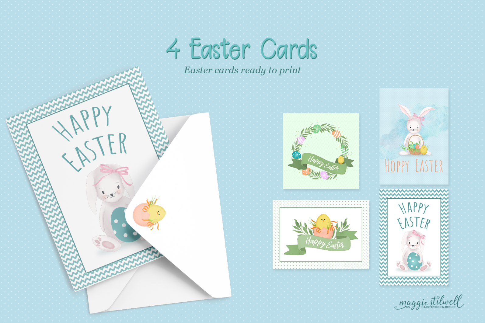 """""""Easter Fun"""" Design Set - easter cards page -"""