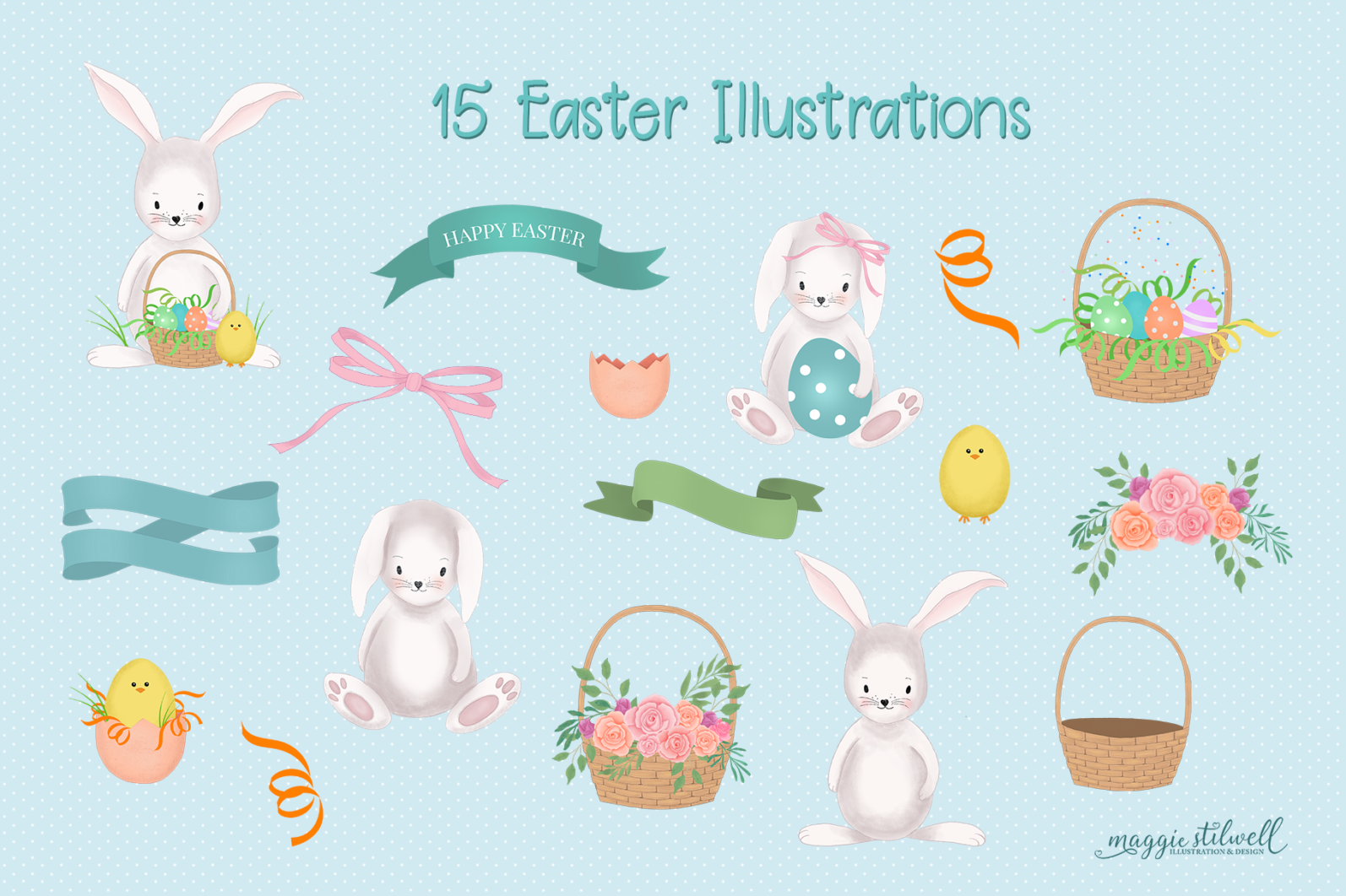 """""""Easter Fun"""" Design Set - easter elements page -"""