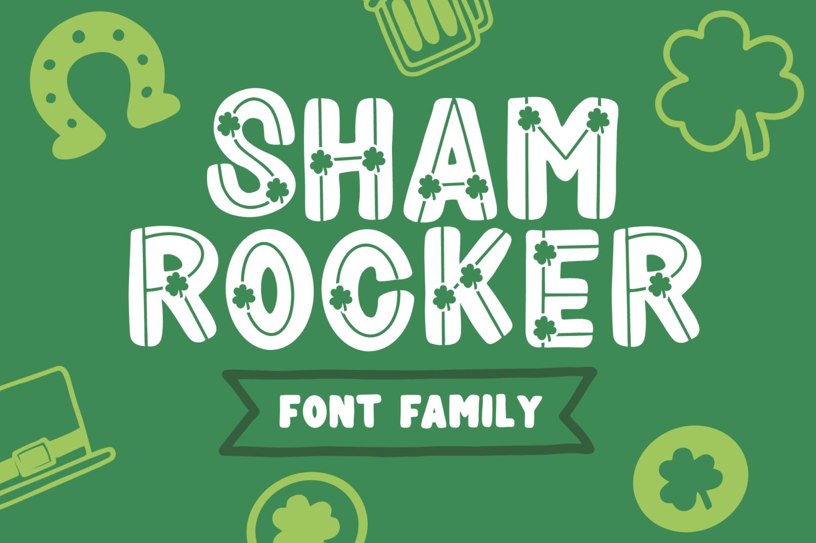 Shamrocker | St. Patrick's Day Font Family - shamrocker display1 -