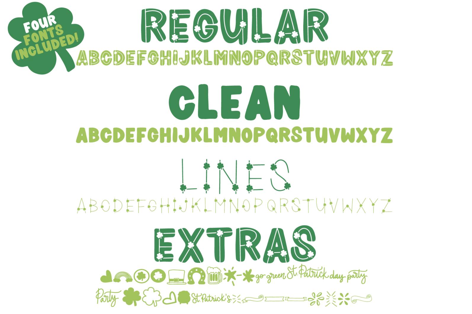 Shamrocker | St. Patrick's Day Font Family - shamrocker display2 -