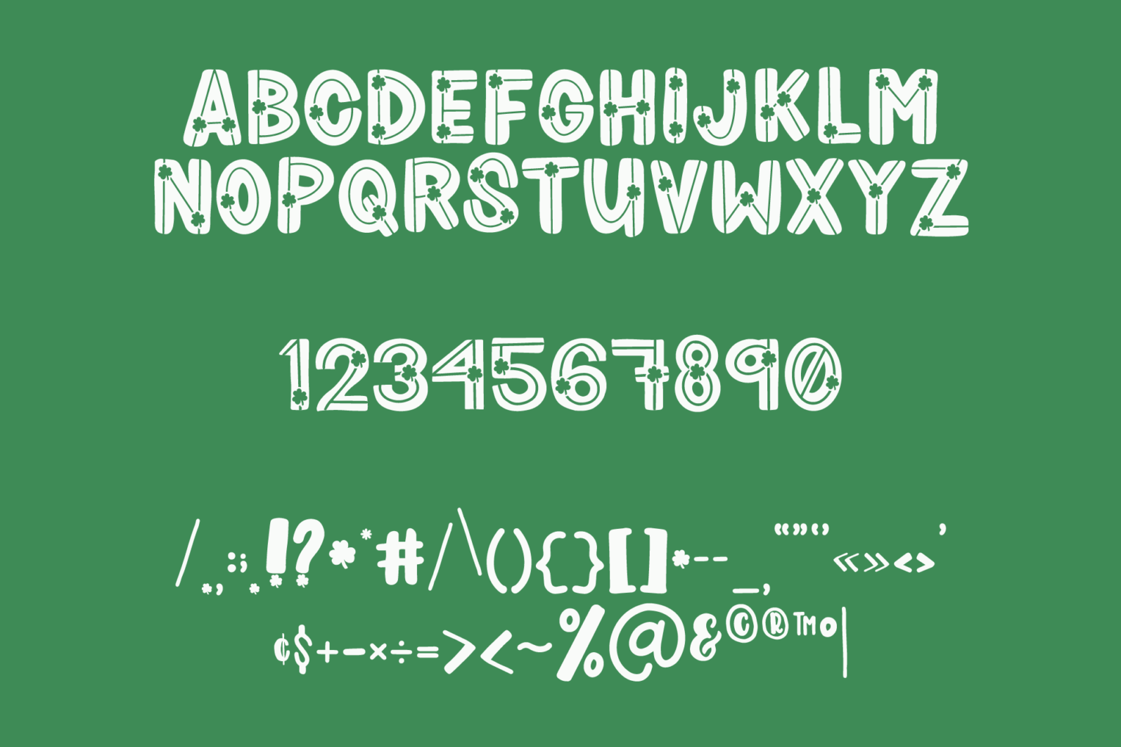 Shamrocker | St. Patrick's Day Font Family - shamrocker display3 -