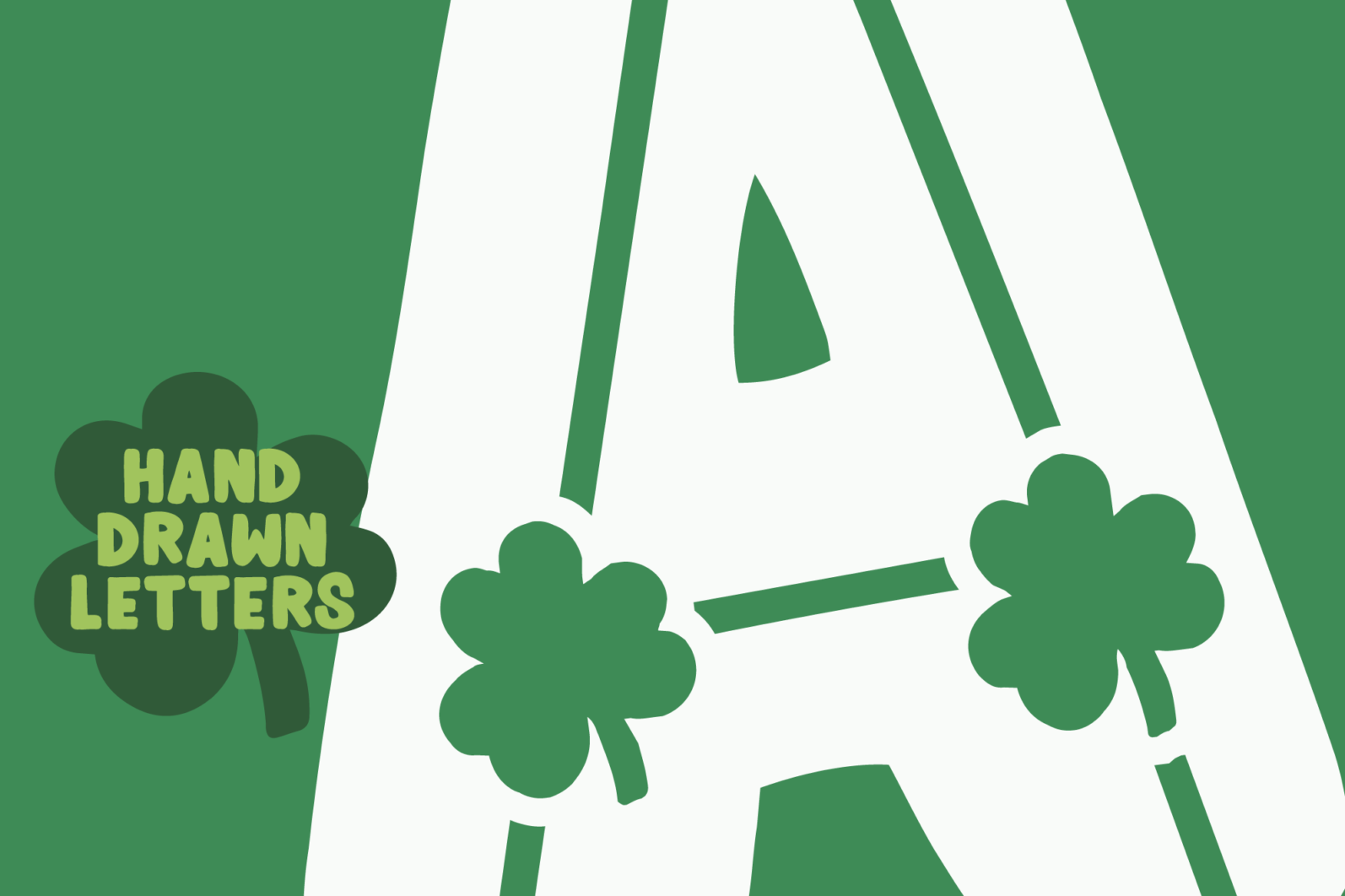 Shamrocker | St. Patrick's Day Font Family - shamrocker display4 -