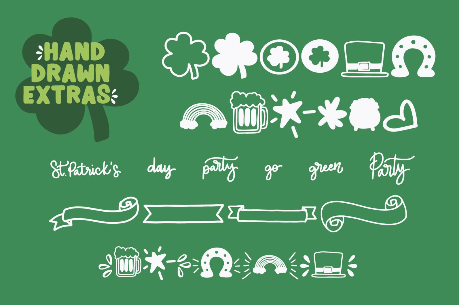 Shamrocker | St. Patrick's Day Font Family - shamrocker display6 -