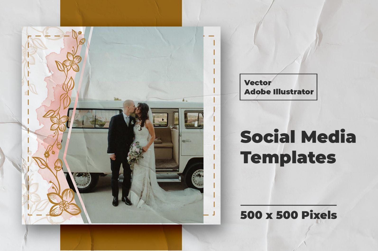 Wedding Instagram Feed Vector - 5 68 -