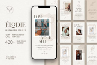 Crella Subscription - 01 elodie instagram story templates -