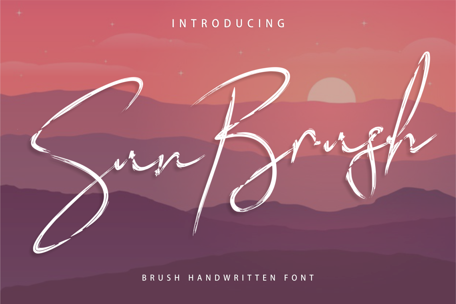 Creative Font Bundle - New Preview Sun Brush 1 -