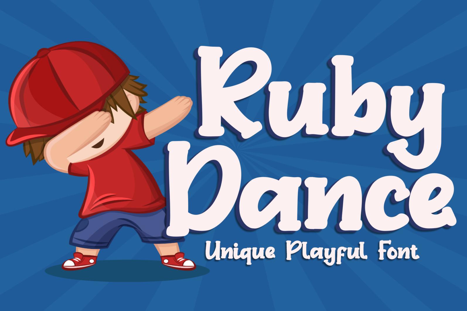 Ruby Dance - Playful Font - Ruby Dance 1 -