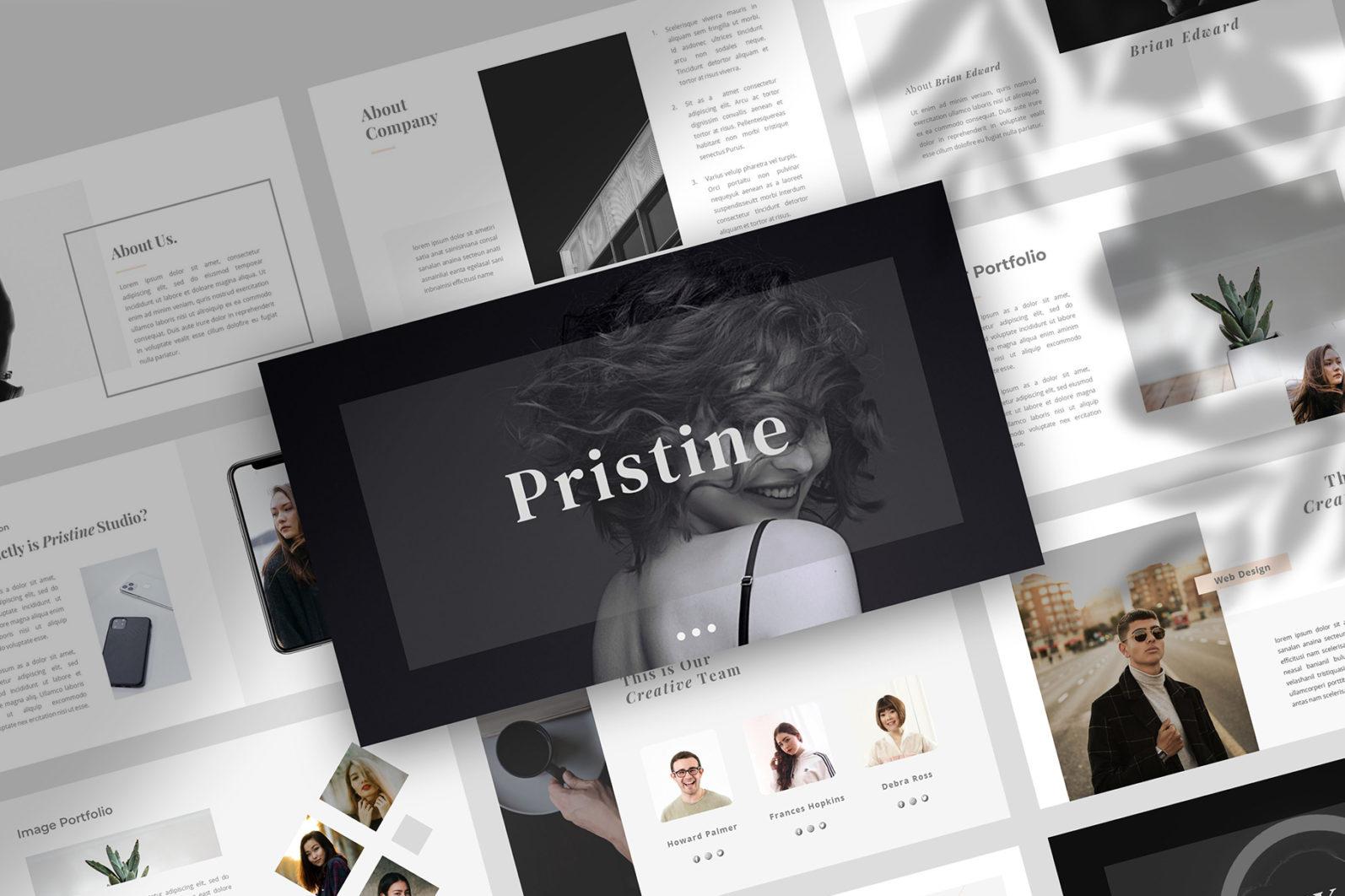 PRISTINE - PowerPoint Template - 1 105 -