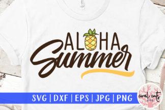 Download Aloha Summer Svg, Beach Svg, Pineapple Svg PNG