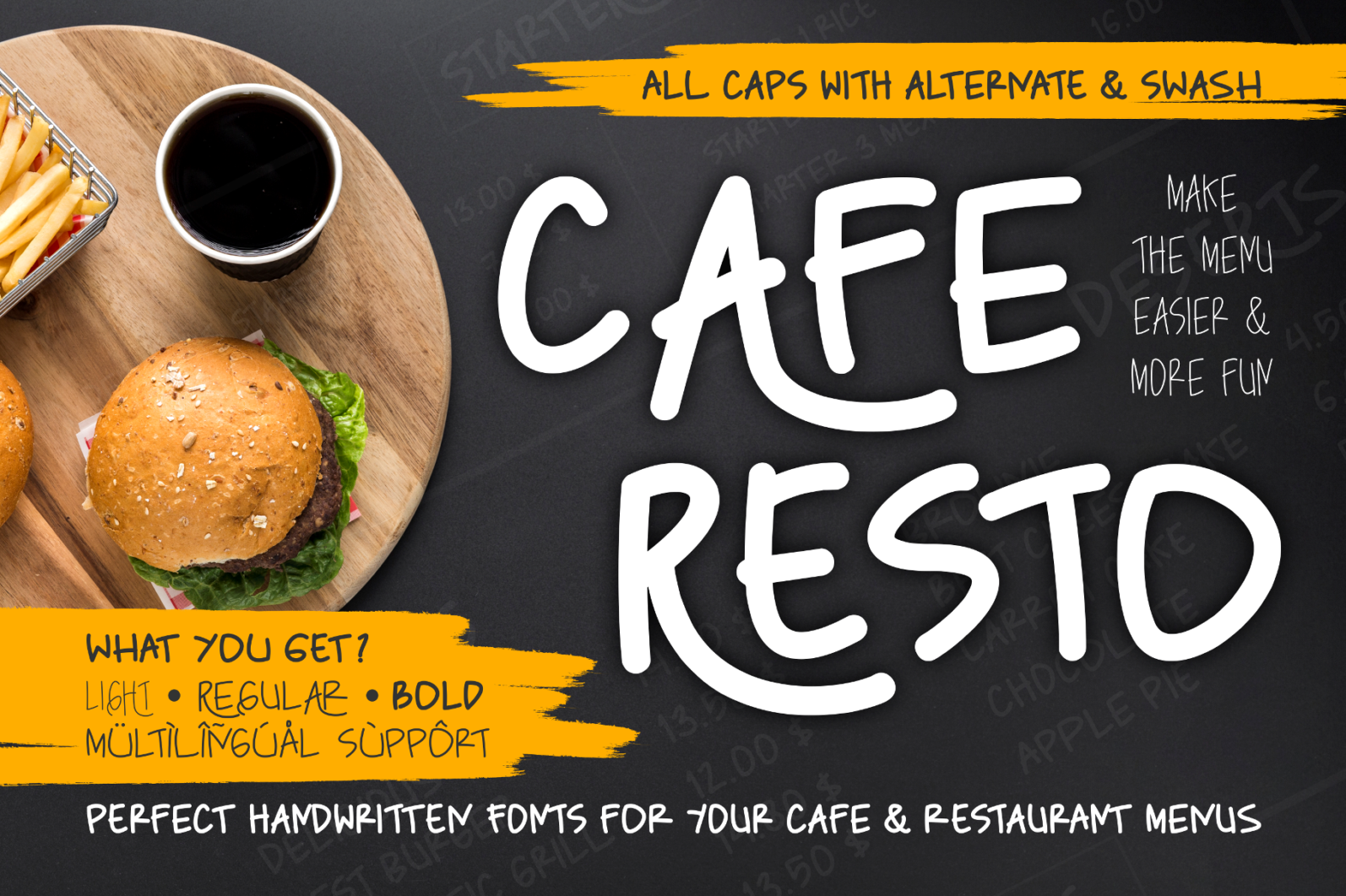 Creative Font Bundle - Preview Caferesto Cover 1 -
