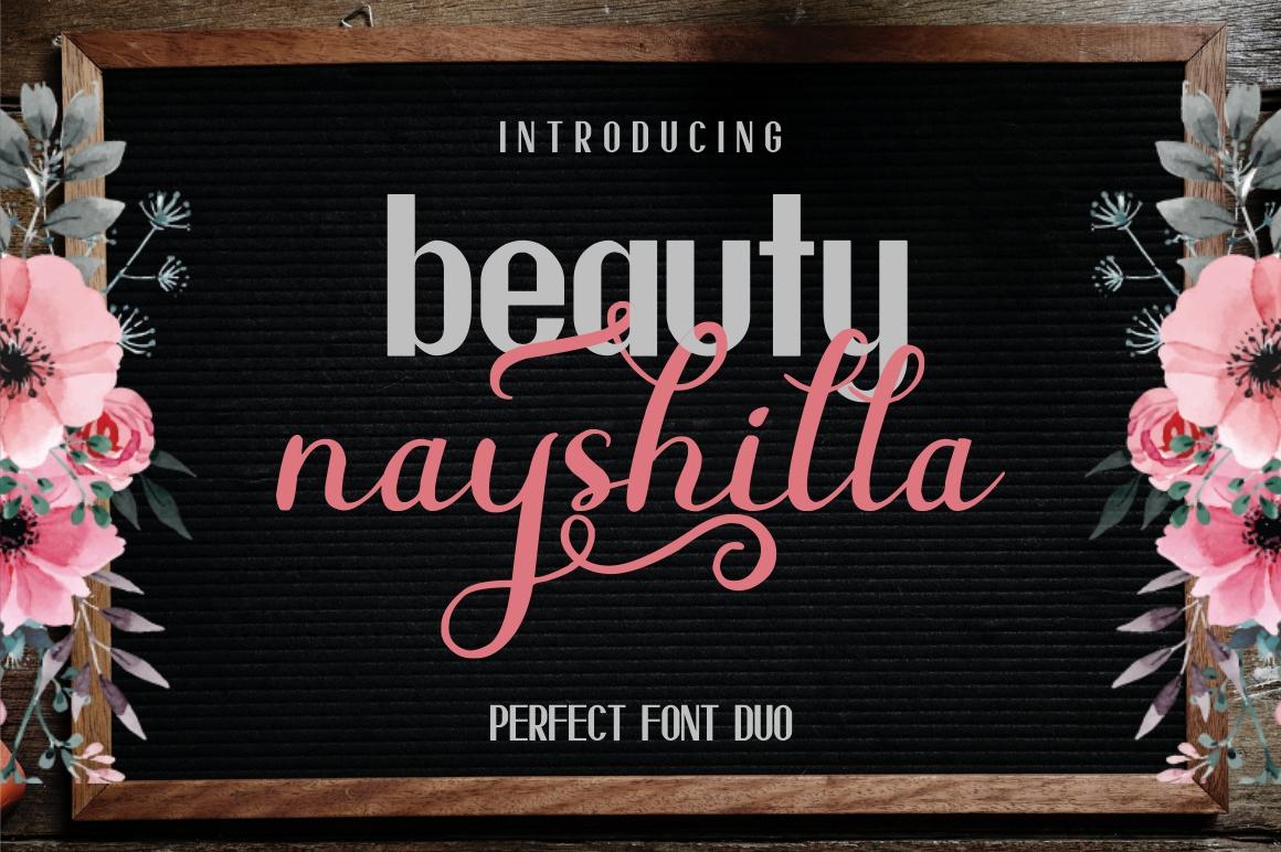 Beauty Nayshilla Font Duo - 1 296 -