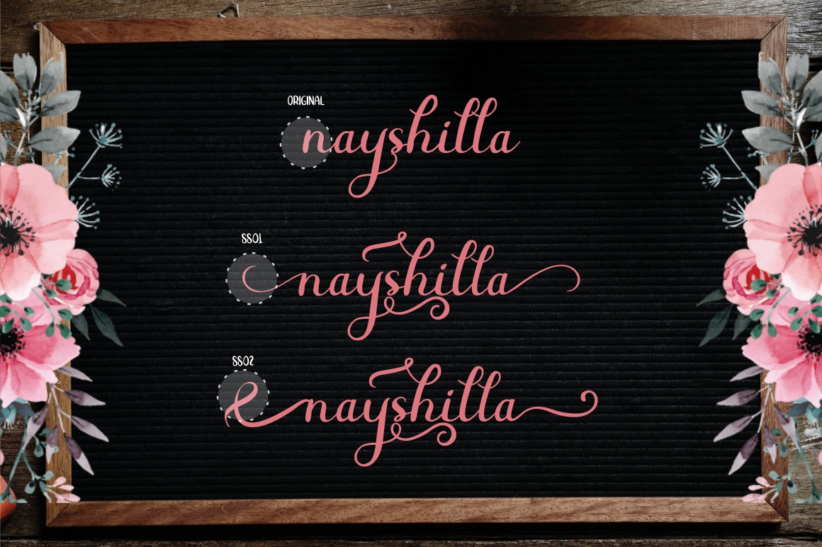 Beauty Nayshilla Font Duo - 3 295 -