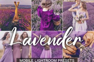 Crella Subscription - lightroom presets cover product 21 5 Lavender for site 2 -