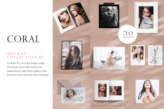 """<span style=""""display: none"""">Mockup Bundles</span> - Coral Collection 1. Preview -"""
