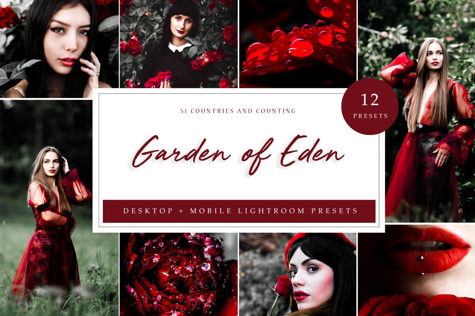 65 x Lightroom Presets (Mobile and Desktop Bundle) inspired by Spring - Eden Desktop scaled -
