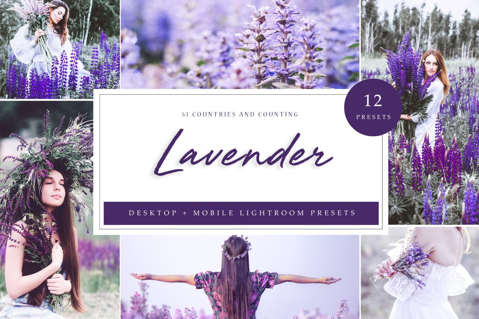 65 x Lightroom Presets (Mobile and Desktop Bundle) inspired by Spring - Lavender LR scaled -