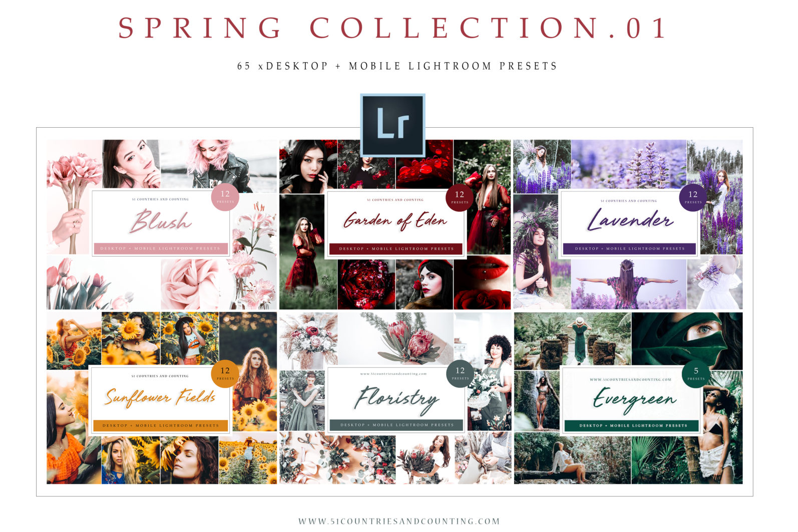 65 x Lightroom Presets (Mobile and Desktop Bundle) inspired by Spring - Spring Collection Preview scaled -