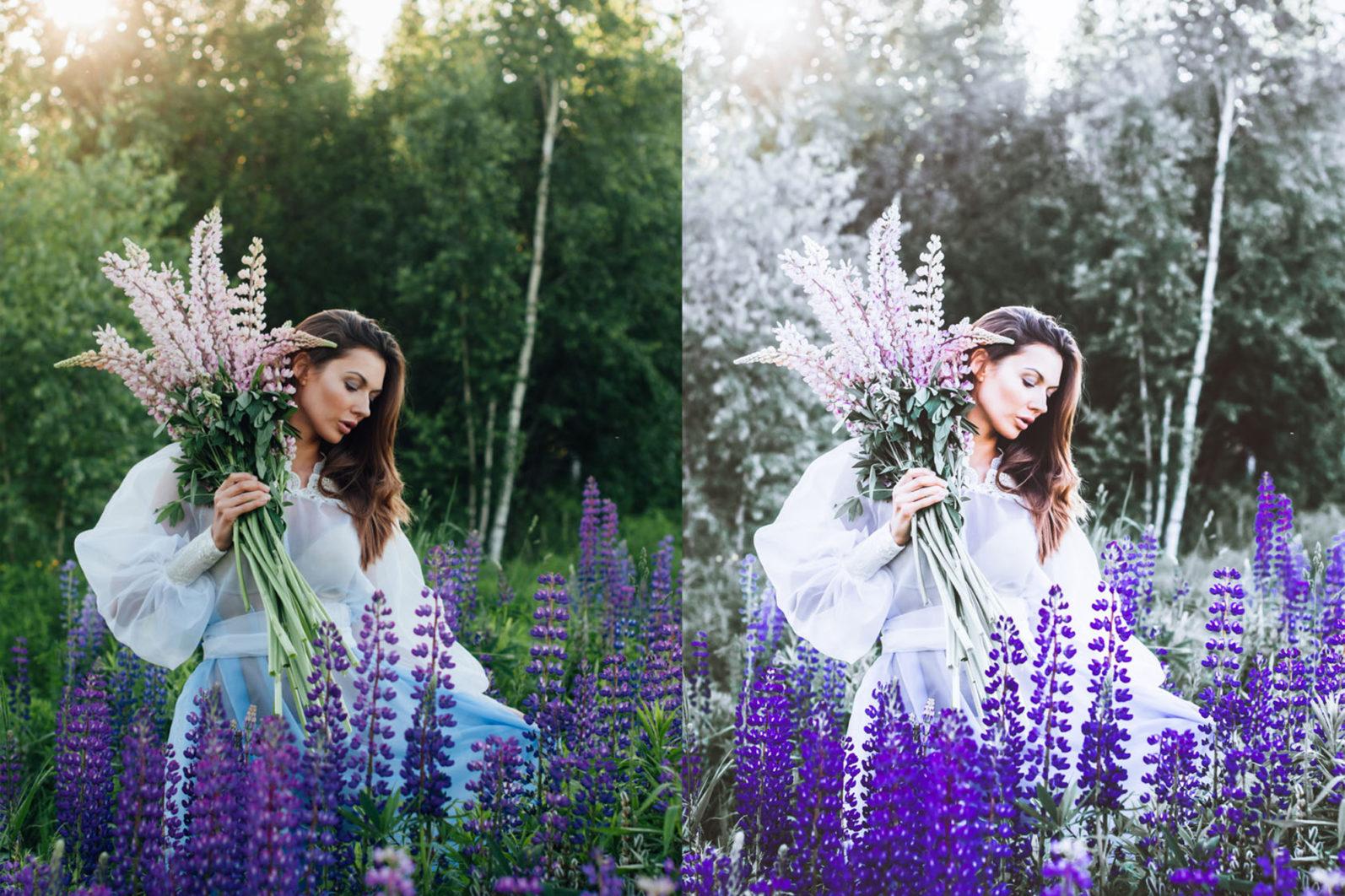 65 x Lightroom Presets (Mobile and Desktop Bundle) inspired by Spring - 5 Lavender -