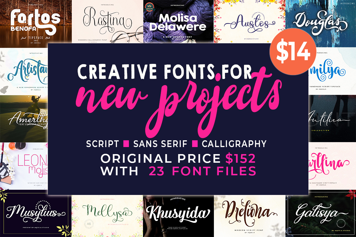 Bundles Creative Fonts for New Projects - 0 4 -