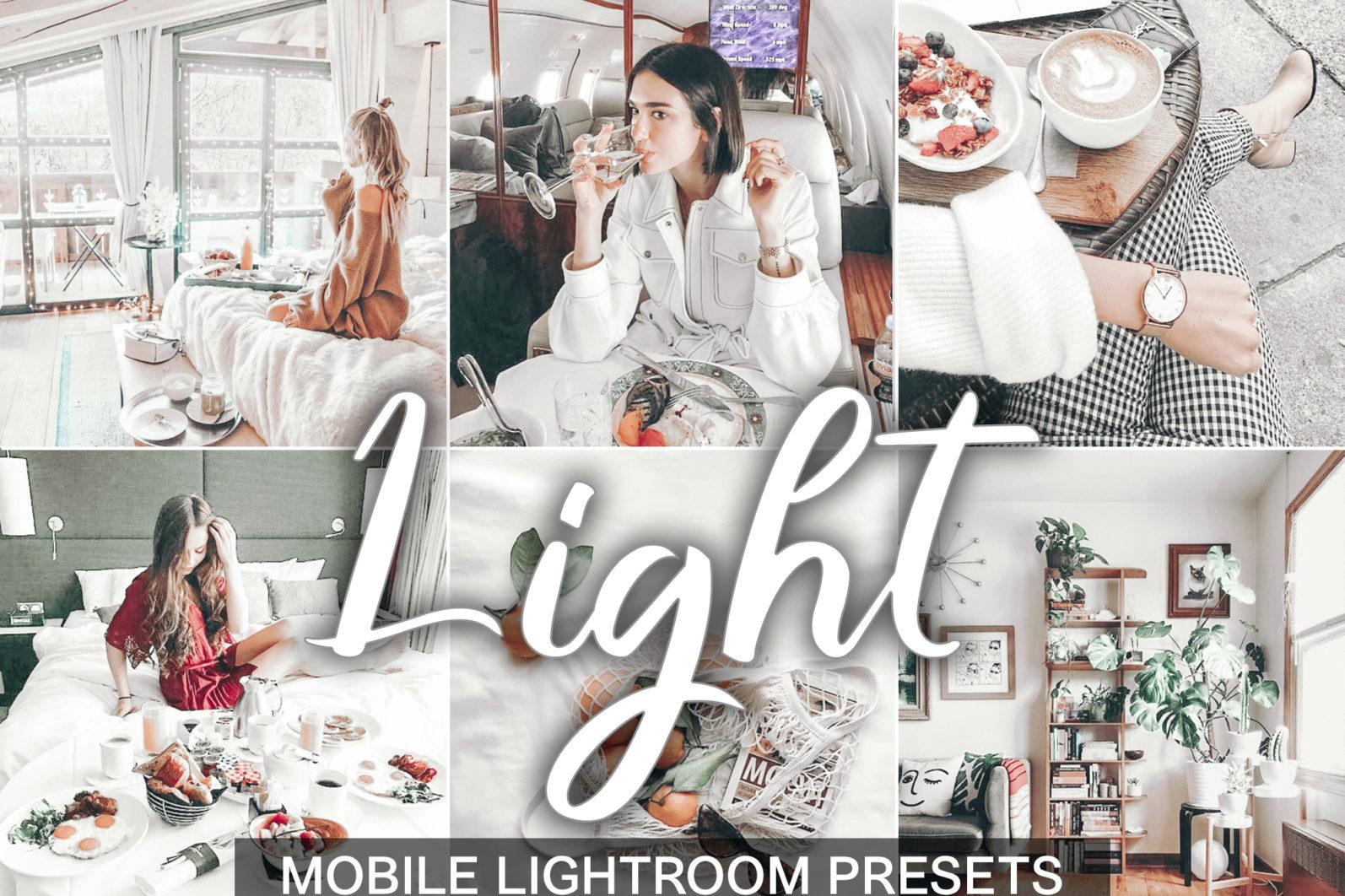 5 Mobile Presets LIGHT - lightroom mobile presets cover light 2 -