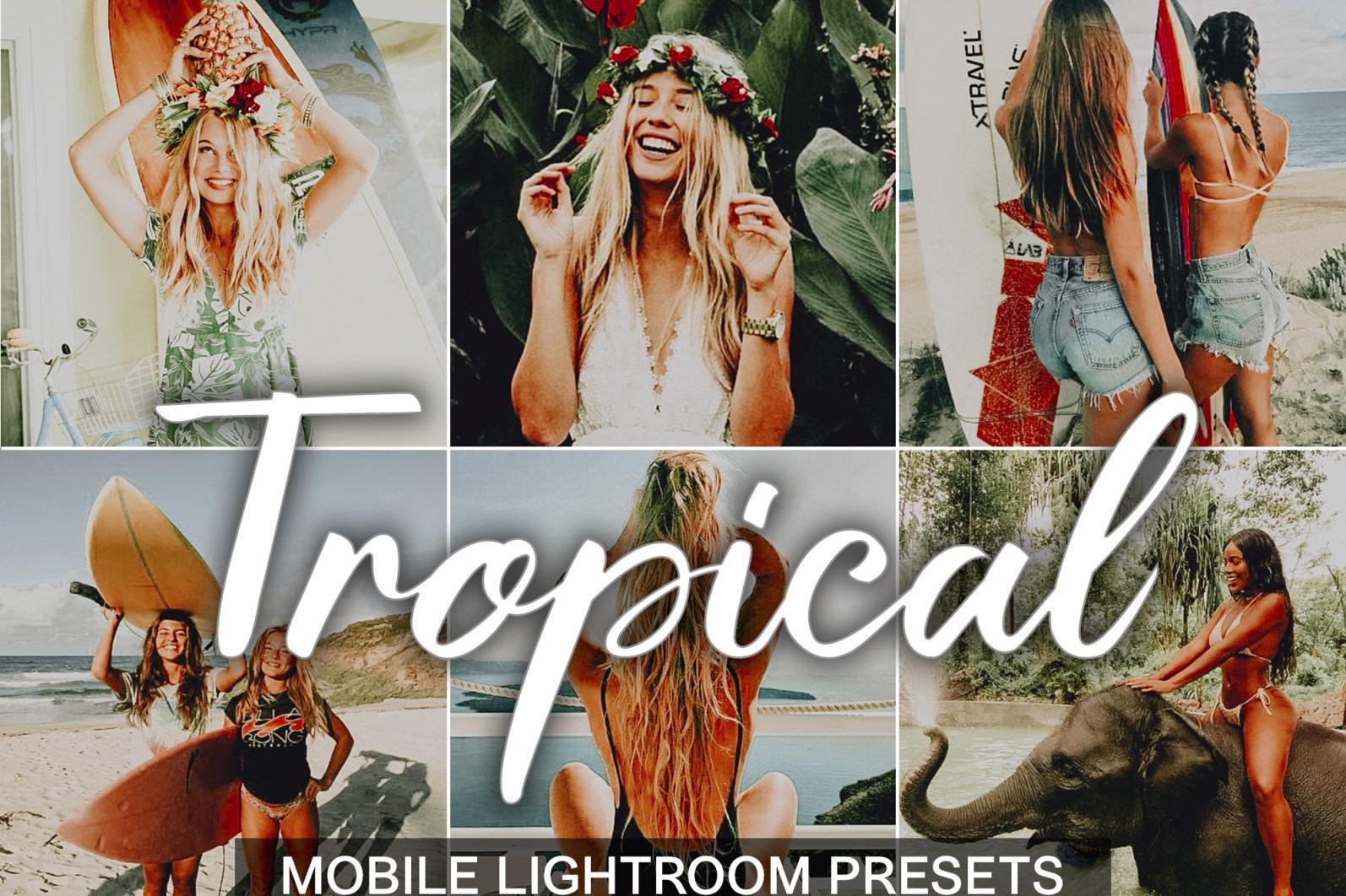 5 Mobile Presets TROPICAL - lightroom mobile presets cover light -