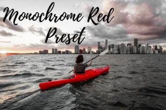 Desktop Lightroom Presets - CF Monochrome Red -