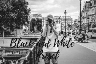 Desktop Lightroom Presets - CF Black and White -
