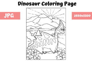 All Freebies - Dinosaur Coloring Page 4 -