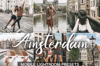 $1 Lightroom Preset Deals - Amsterdam presets cover product -