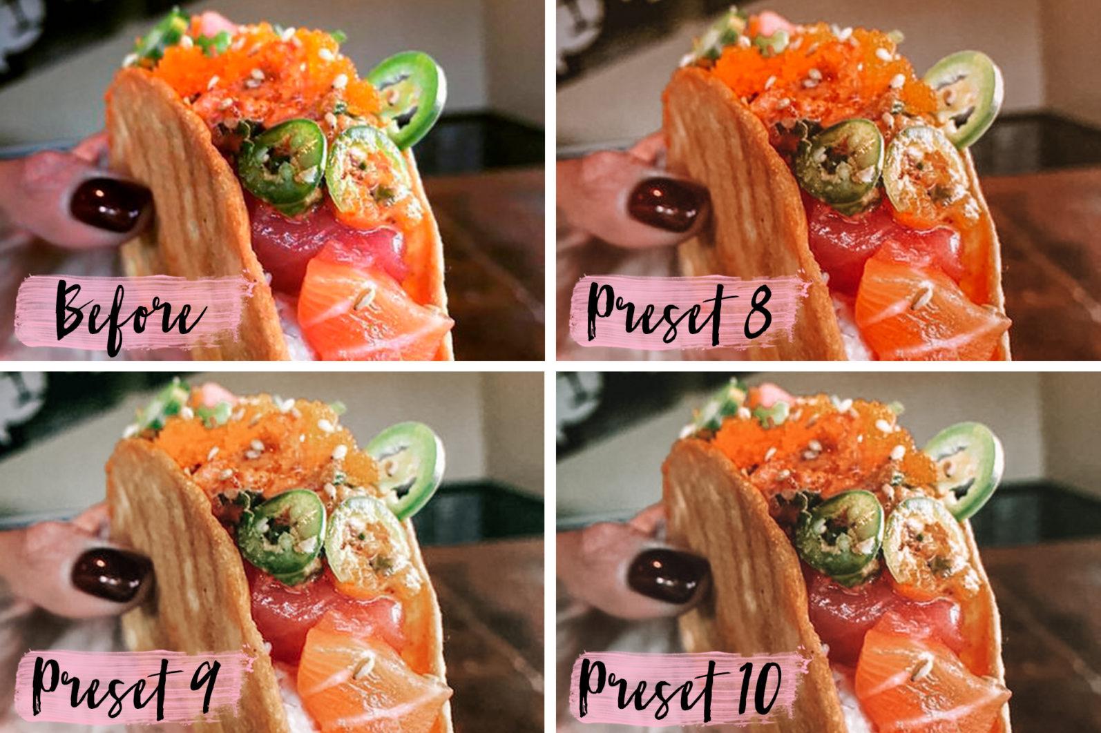 10 Mobile Presets FOOD BLOGGER - food blogger lightroom presets cover product 8 -