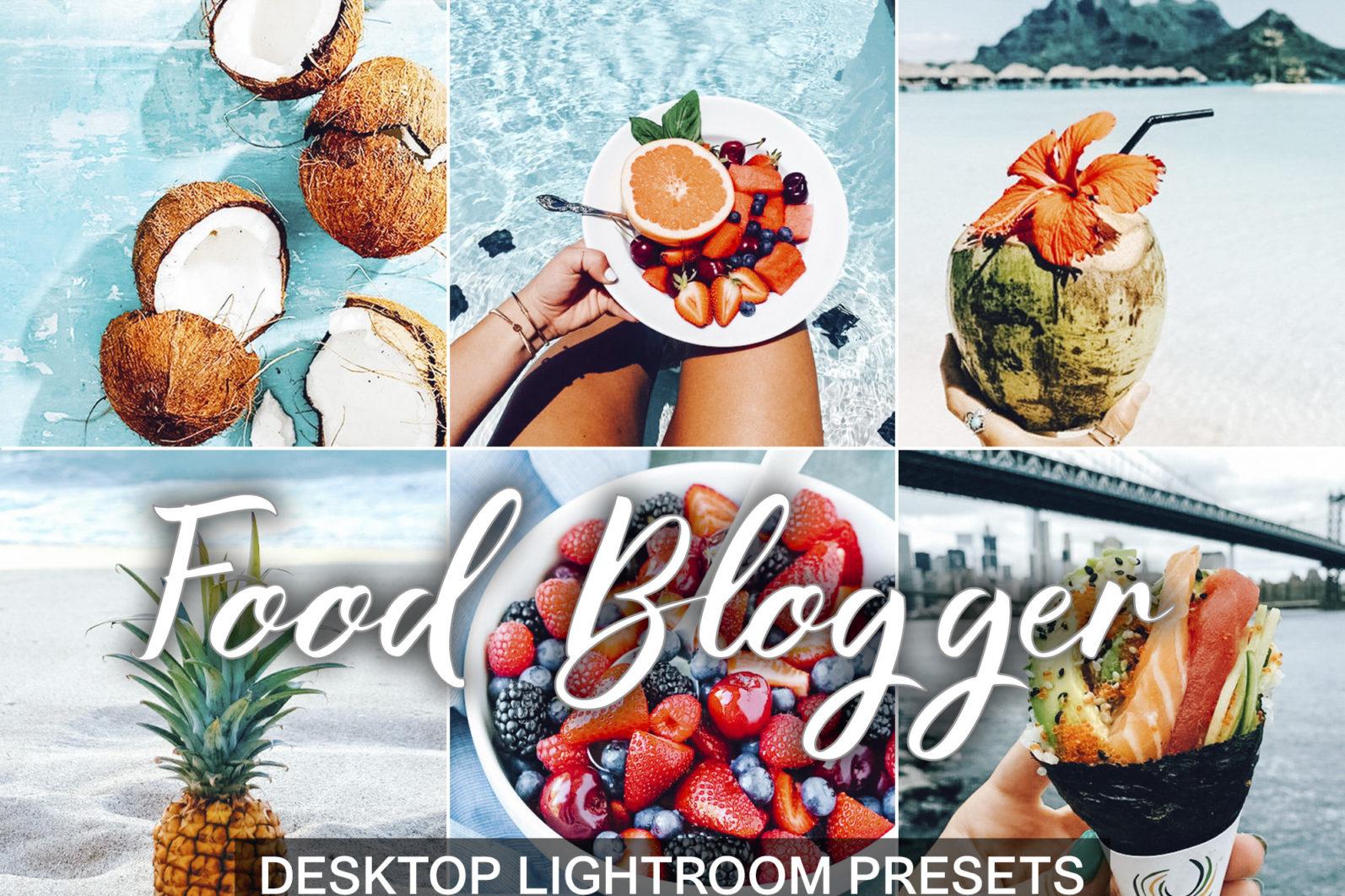 10 Mobile Presets FOOD BLOGGER - desktop lightroom presets cover product Food Blogger -