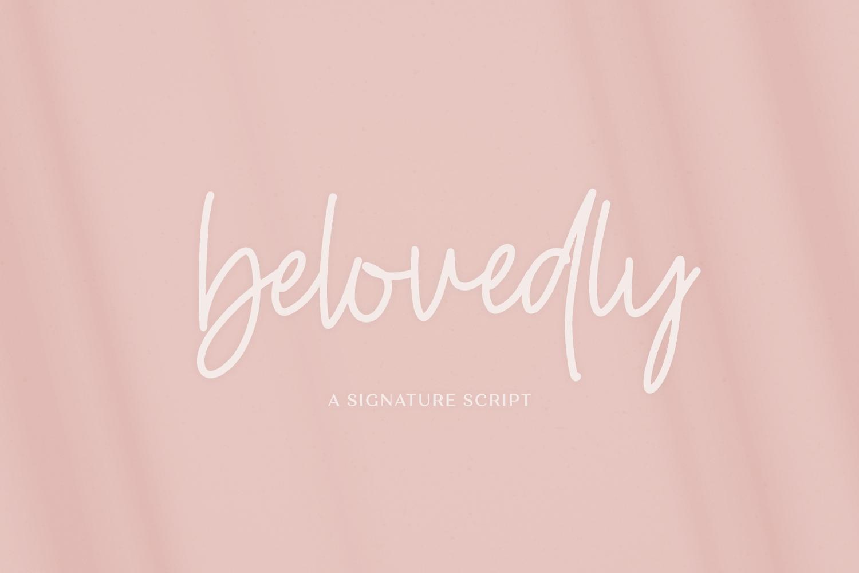 The Handlettered Font Bundle - Belovedly 1 -